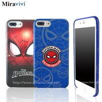 漫威英雄Marvel 周邊商品推薦MARVEL漫威iPhone7 Plus(5.5吋)蜘蛛人經典版超薄皮革背蓋