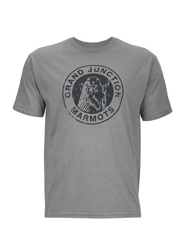 ├登山樂┤美國Marmot土撥鼠 Grand Junction 男款短袖混棉紡吸濕排汗衣 灰色#54200-8542