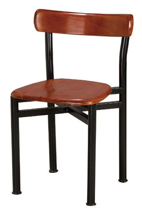 【 IS空間美學 】貝勒實木餐椅(兩色可選)