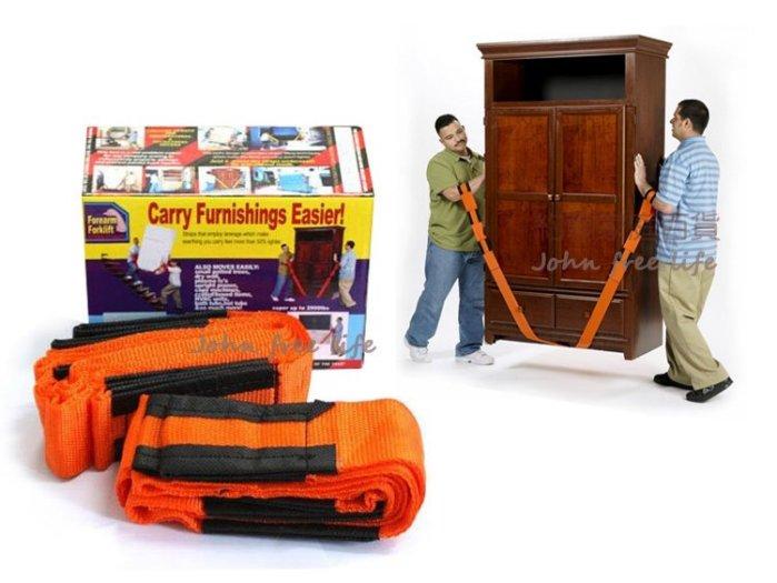 約翰家庭百貨》【WA010】省力傢俱搬運帶 家具搬運繩 電器搬運帶 搬家帶 搬家繩 2條裝