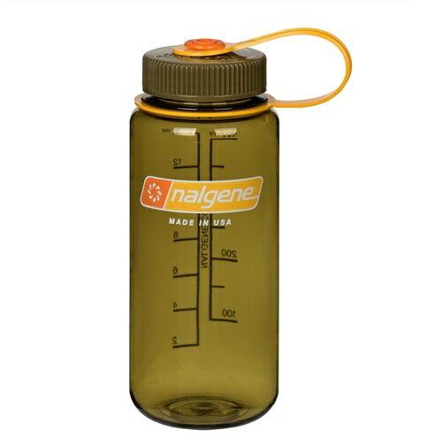 Nalgene 寬嘴水壺/運動水瓶/寬口瓶 Tritan 500cc 美國製 2178-2068 橄欖