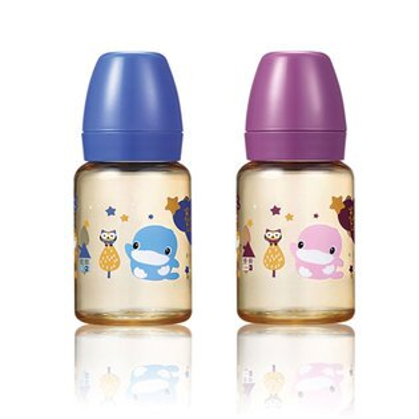 【奇買親子購物網】酷咕鴨KU.KU.星燦PPSU標準奶瓶140ml(藍奇星空紫幻銀河)
