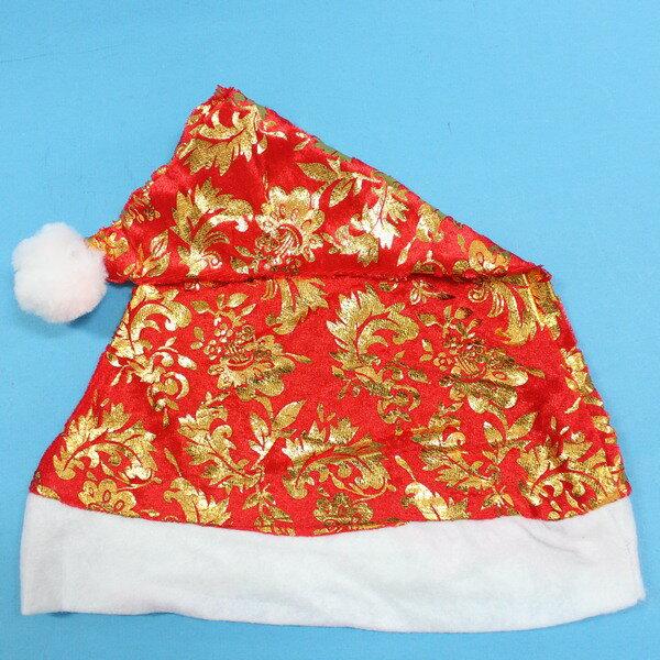 聖誕帽 烙印金圖.銀圖聖誕帽 耶誕帽(燙金銀圖.絨布面)/一個入{促40}~5016