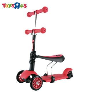 玩具反斗城 【Yvolution】 平衡滑步車-三合一(紅)