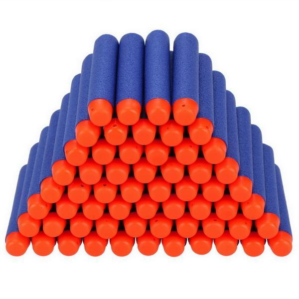 80 Darts Nerf N-Strike Elite Dart Refill Pack Children Kids Toy Safety EVA Round Head Soft Darts Hollow Sticks 0