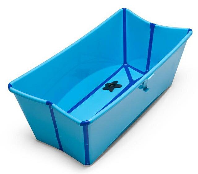 【領券現折120★折扣後$1560】丹麥 Stokke Flexi Bath 摺疊式多功能浴盆(攜帶型浴缸) 藍色*夏日微風*
