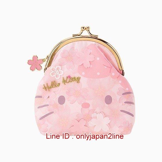 【真愛日本】4901610279175 珠扣零錢包-KT 三麗鷗 Hello Kitty 凱蒂貓 零錢包 錢包 收納包
