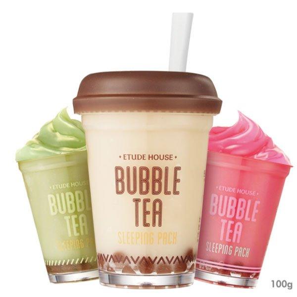 櫻桃飾品:韓國ETUDEHOUSE珍珠奶茶綠茶草莓睡眠面膜100g三款可選【櫻桃飾品】【23009】