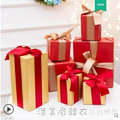 圣誕節裝飾禮盒堆頭禮物圣誕樹底部套餐創意商場活動場景布置擺件