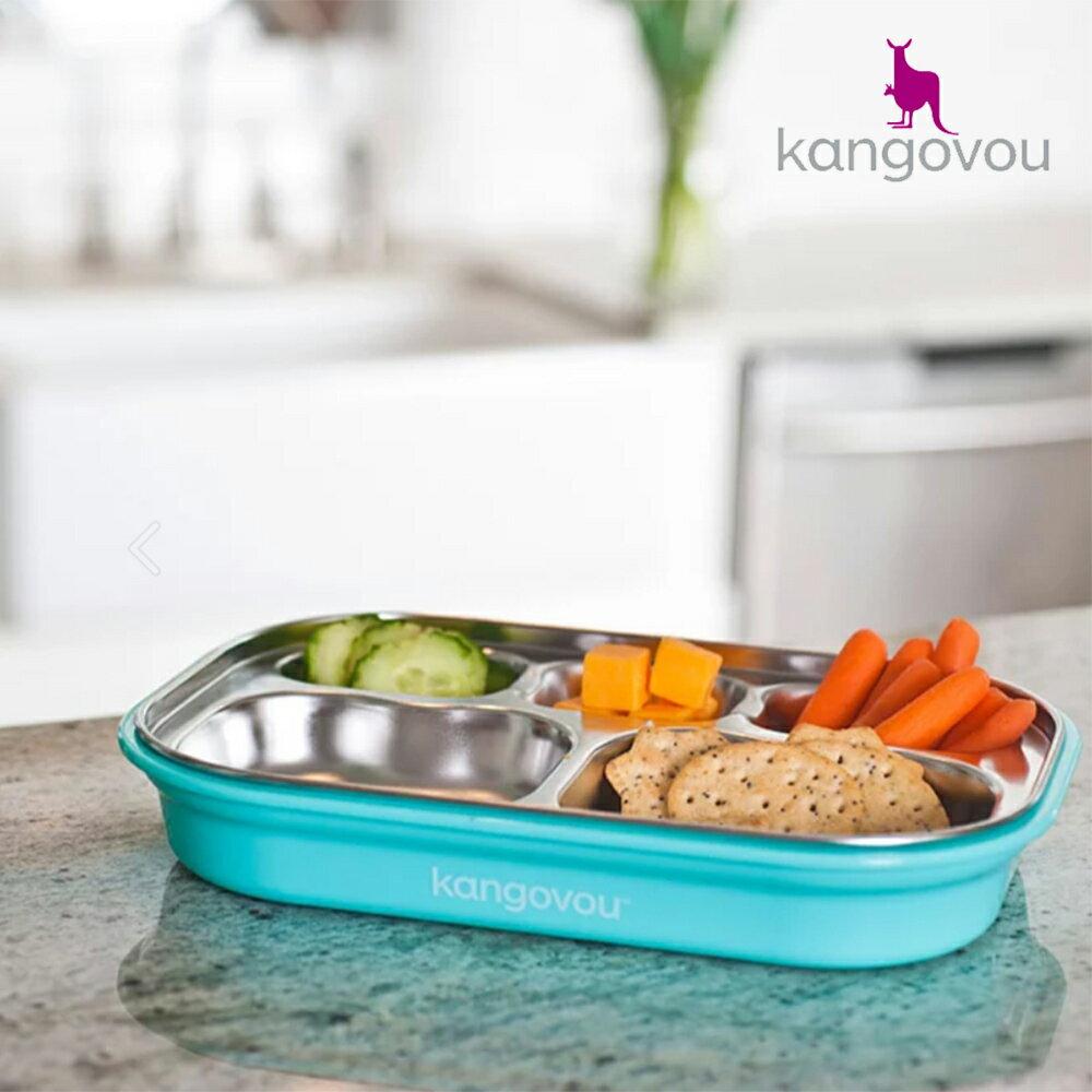 【75折專區】【kangovou】美國小袋鼠不鏽鋼安全 分隔餐盤-薄荷綠