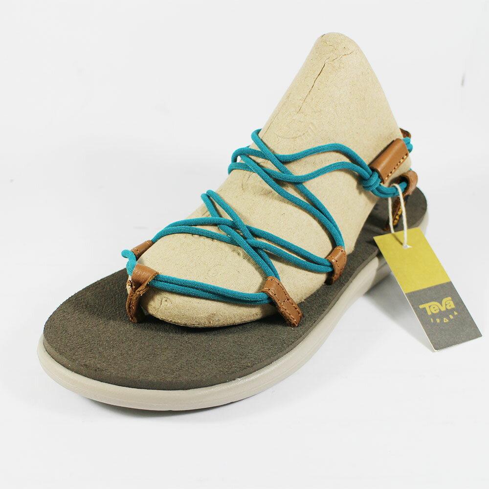 (A3) TEVA W VOYA INFINITY 女 卡其 綠繩 羅馬織帶 運動涼鞋 TV1019622DLK