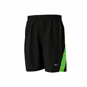 J2TB705193(黑X蘋果綠)輕量微彈性 RUNNING男路跑短褲 【美津濃MIZUNO】