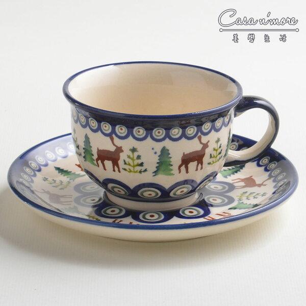 波蘭陶歡樂聖誕系列花茶杯盤組馬克杯點心盤220ml波蘭手工製