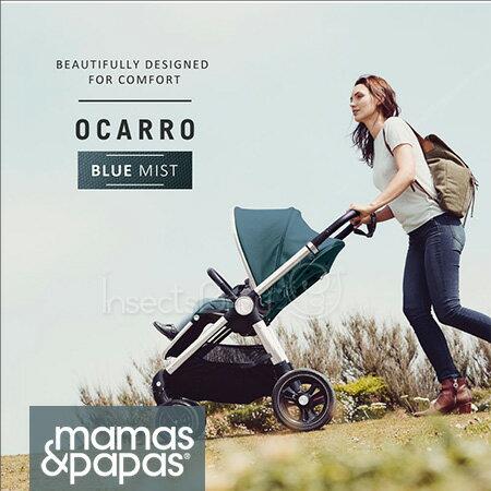 ✿蟲寶寶✿【英國mamas&papas】新生兒可平躺快速收折雙向座椅好推培林輪嬰兒手推車Ocarro薄霧藍