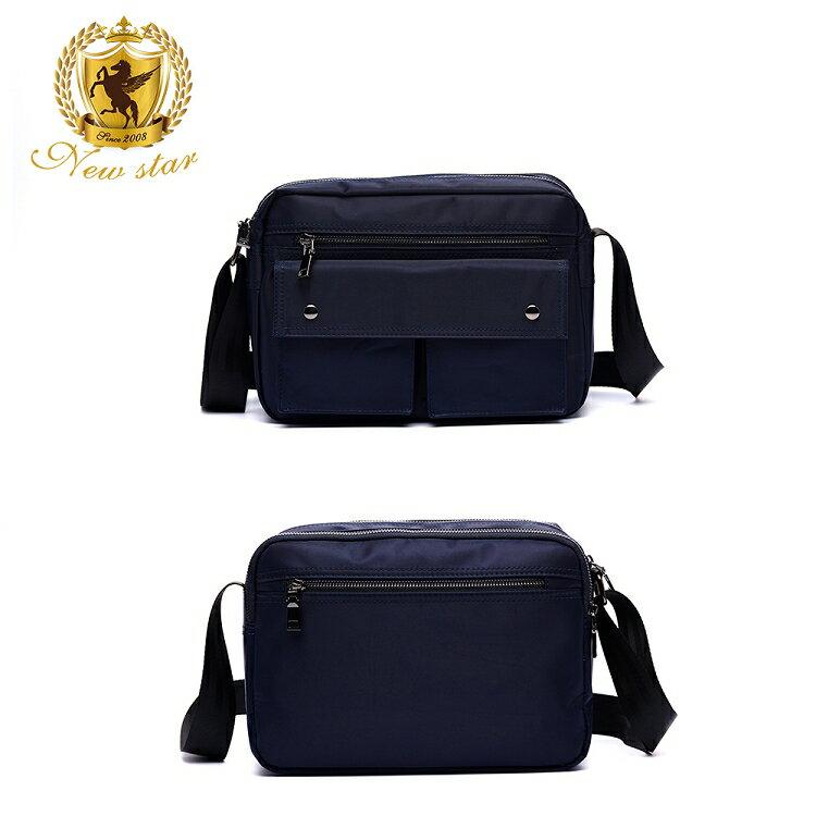 日系防水側背包包 升級版  (機能 雙口袋 雙層 斜背包 porter風 NEW STAR BL89 2