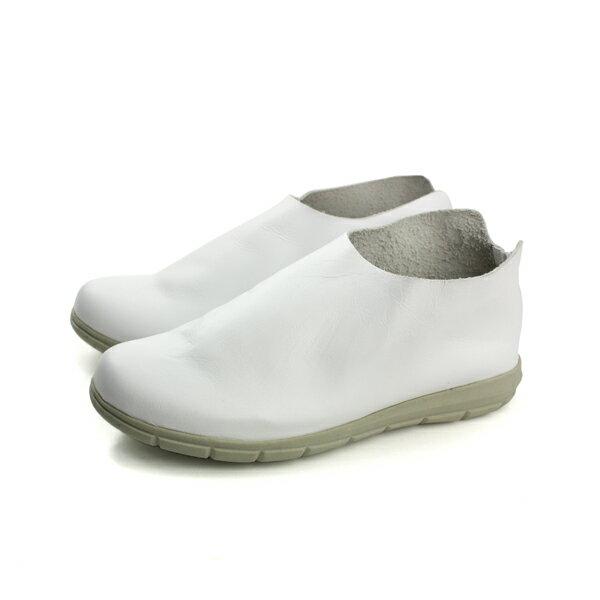 HUMAN PEACE:HUMANPEACE懶人鞋休閒鞋皮質白色女鞋BB133no589