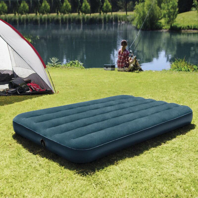 植絨充氣床 戶外雙人氣墊床單人加高加厚夢幻綠折疊
