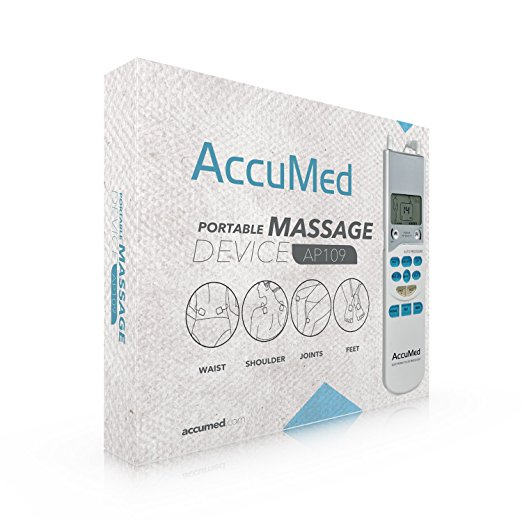 AccuMed AP109 Portable TENS Unit Electronic Pulse Massager with Lifetime  Support and USA Warranty