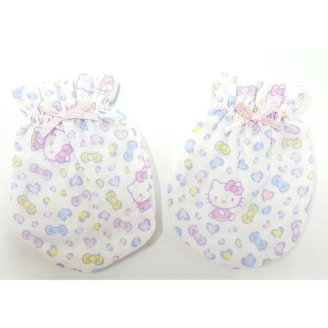 【奇買親子購物網】Hello Kitty 紗布印花嬰兒手套