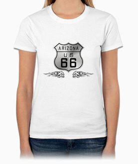 US ROUTE 66『ARIZONA』HiCool機能性吸濕排汗圓領T恤