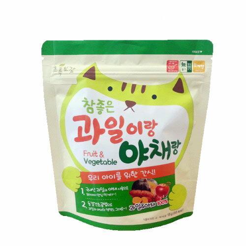 韓國【NaturalChoice自然首選】動物園幼兒綜合蔬果脆片(15g)