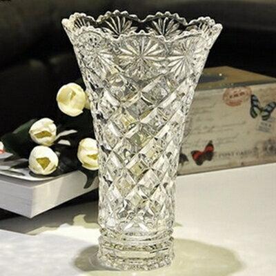 玻璃花瓶 插花花器~透明波西尼亞風格歐式藝術品居家擺件72ah4~ ~~米蘭 ~