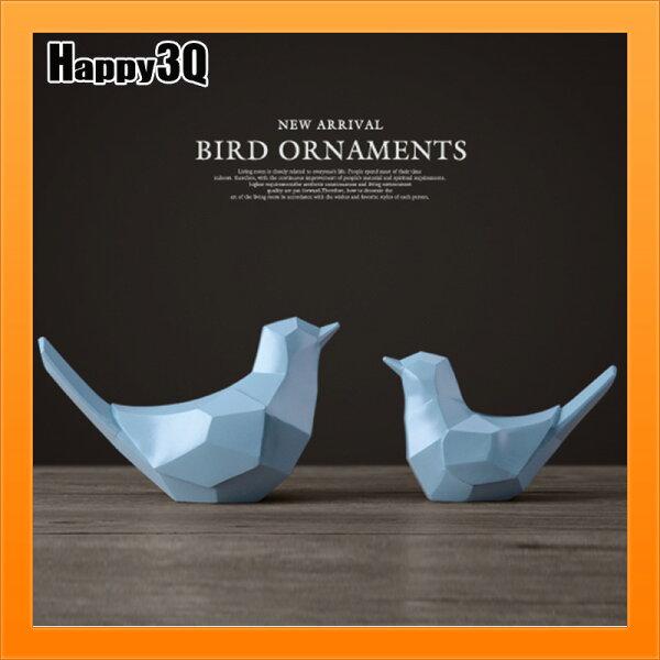 小鳥擺飾母子鳥情人鳥家居飾品客廳書房裝飾品-白黑粉黃藍【AAA4894】