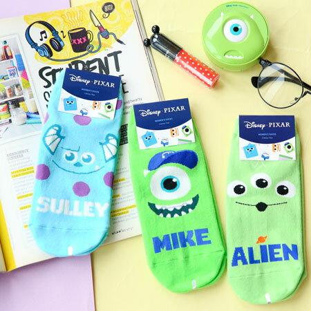 韓國 皮克斯系列短襪 大眼仔 毛怪 三眼怪 襪子 怪獸大學 怪獸電力公司 玩具總動員 造型襪 流行襪 迪士尼【B062492】