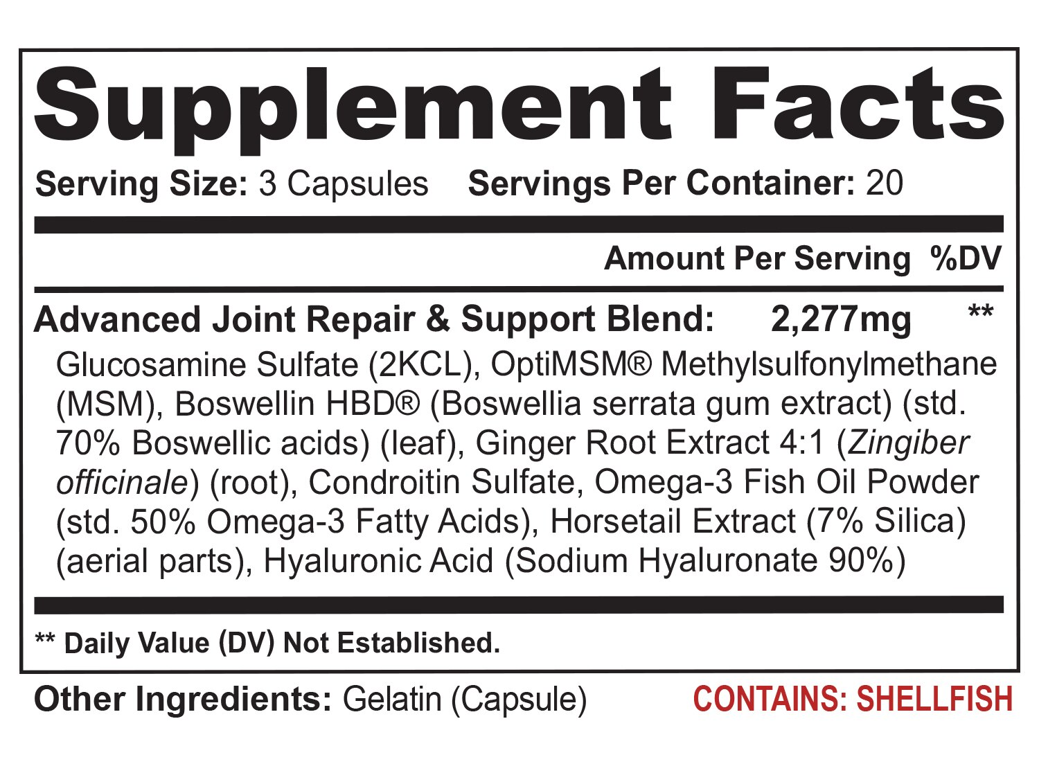 Flexacil Ultra - (3 bottles, 60 caps each) The Most Advanced Joint Repair and Pain Relief Formula - Premium Grade Glucosamine, Chondroitin, MSM, Hyaluronic acid and Omega 3 Fish Oil 3