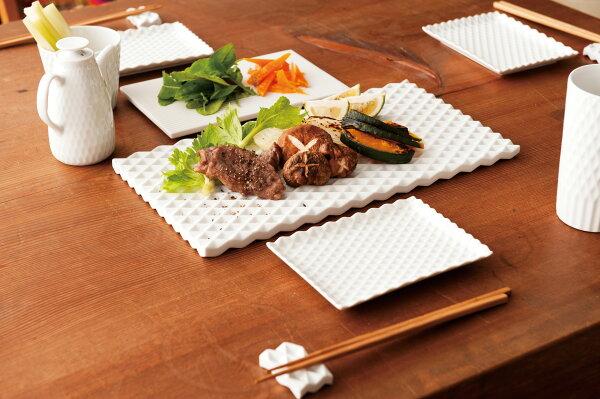 賞器選【224porcelain】單人餐盤鑽石型幾何菱形