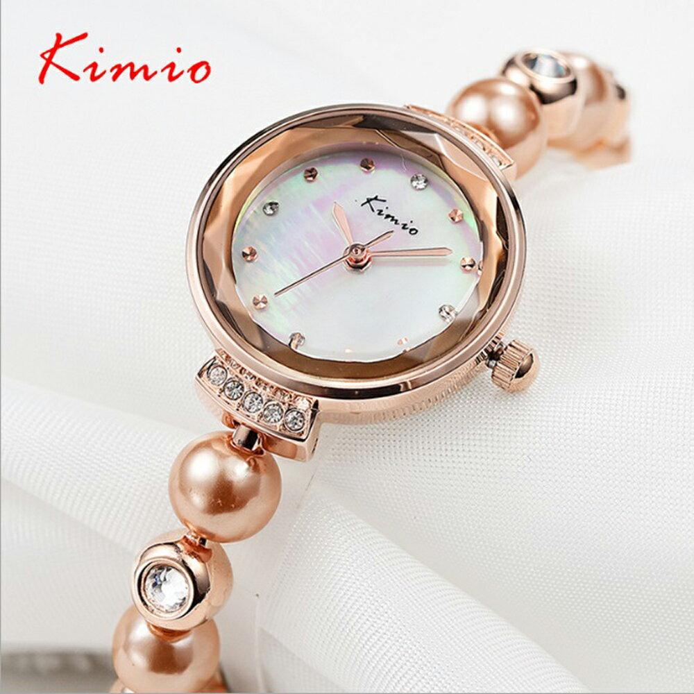 Kimio 金米歐 KW-6026 閃耀珍珠水鑽切割玻璃鏡面手練錶 2