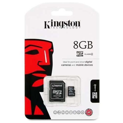 Kingston 8GB microSDHC Class 4 8G microSD micro SD SDHC C4 TF Flash Memory Card SDC4/8GB