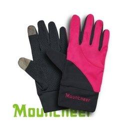 【【蘋果戶外】】山林 11G01-33 桃紅 Mountneer 中性抗UV觸控手套 觸控手機 手套