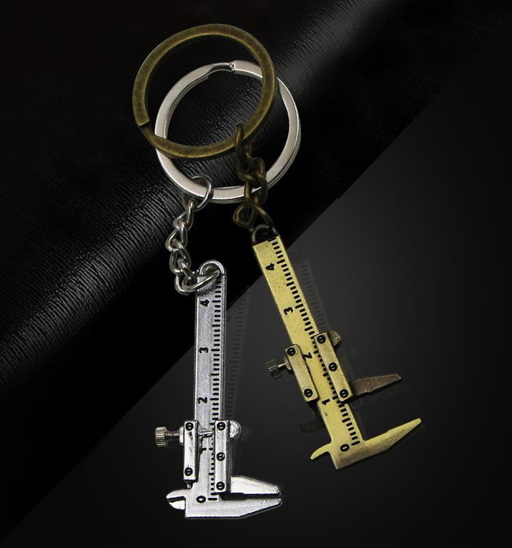 鑰匙圈 汽車鑰匙圈 迷你游標卡尺 生日 男士   客製化鑰匙圈