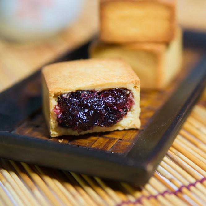台南十二佃-台灣伴手禮鳳梨水果酥【藍莓餡】禮盒-12入一盒