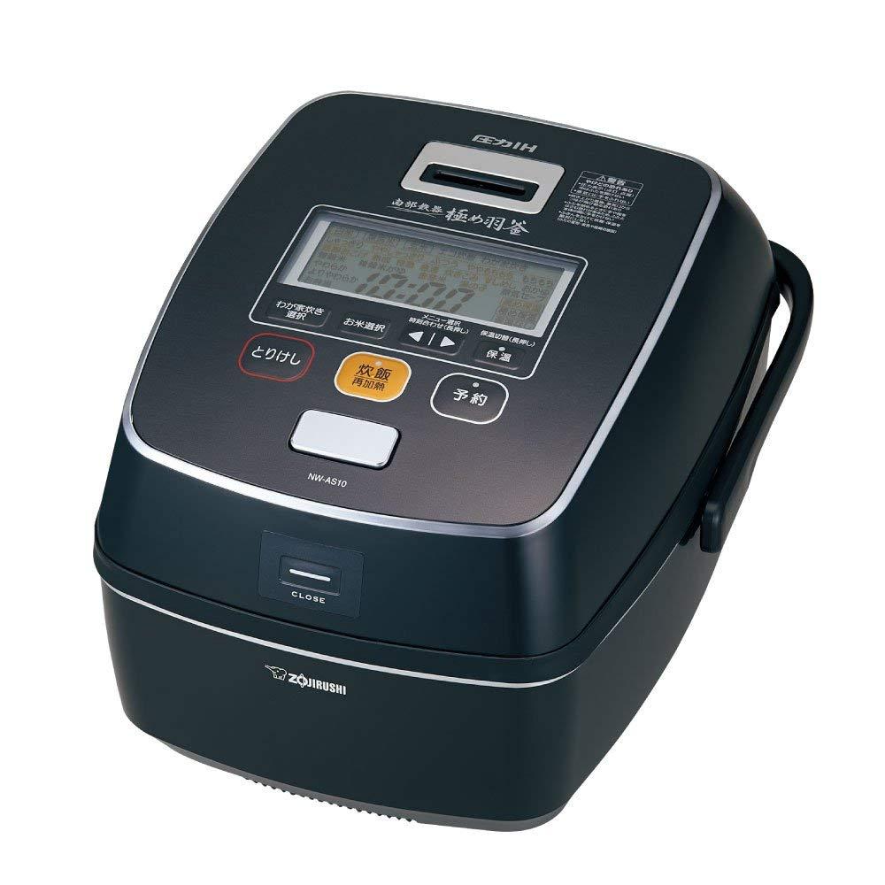 日本公司貨 ZOJIRUSHI 象印 壓力IH電子鍋 NW-AS10-BZ 容量5.5合 6人份 日本必買代購