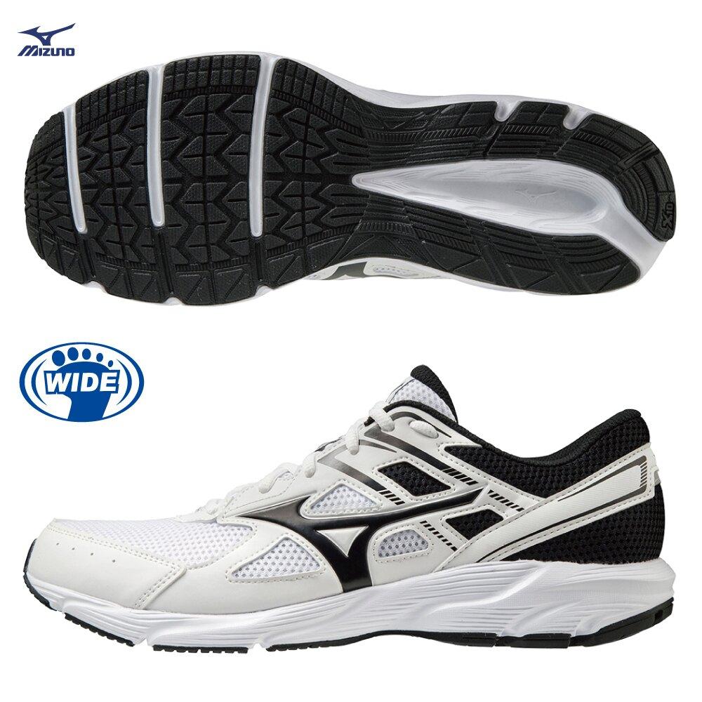 【滿額最高折318】MIZUNO MAXIMIZER 23 男鞋 慢跑 健走 3E寬楦 避震 透氣 白黑【運動世界】K1GA210002