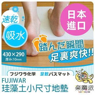 『樂魔派』日本製 日本進口 Fujiwara 珪藻土 小尺寸 地墊 衛浴 踏墊 自然素材 抗菌 強力吸濕 速乾 家電現貨