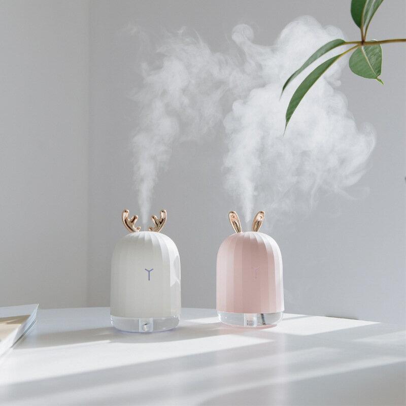 USB創意萌鹿萌兔子萌寵小夜燈美容補水儀加濕器 【智選好品】