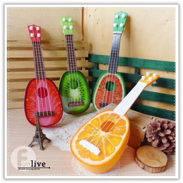【aife life】水果造型烏克麗麗/可彈奏/四弦/樂器/兒童學習/吉他/電吉他/玩具/禮品贈品