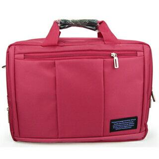 15.6吋 三用 可後背 手提 側背 筆電包 CN046 桃紅