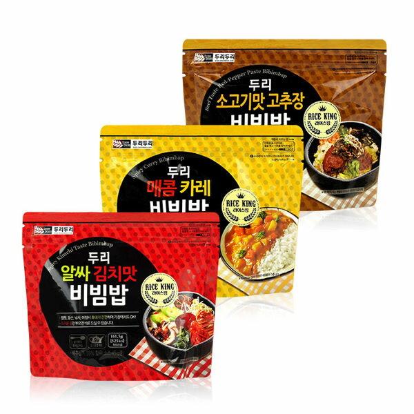 有樂町 食品 韓國 Doori Doori 石鍋拌飯^(1袋入^) 韓式泡菜/咖哩/牛肉