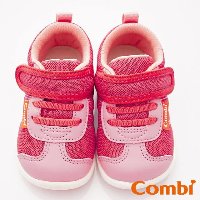 日本Combi童鞋 時尚紐約幼兒機能休閒鞋-魔力紅(加贈鞋墊)寶寶段 5