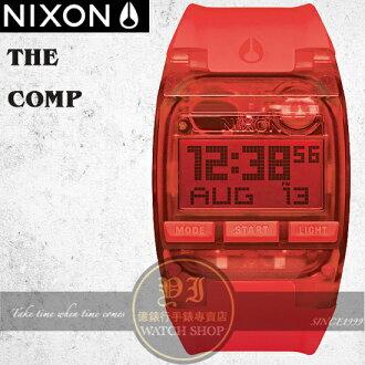 NIXON 實體店The COMP浪花潮流腕錶ALL RED公司貨A408-191/極限運動
