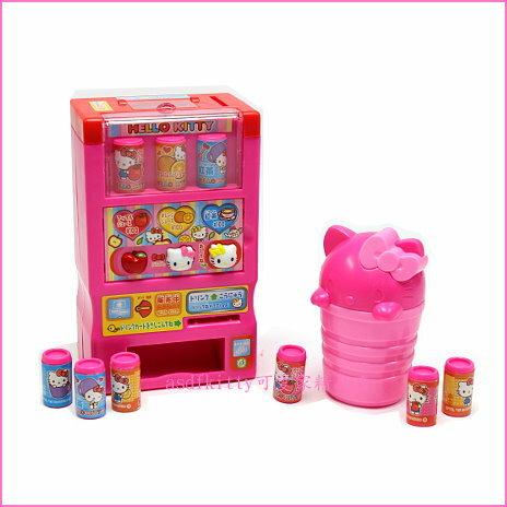 asdfkitty可愛家☆KITTY飲料自動販賣機玩具組-遊戲組-兒童玩具-日本正版商品