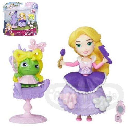 【Playwoods】[迪士尼公主DISNEY]迷你公主及配件遊戲組:長髮公主樂佩的美髮沙龍 Rapunzel(魔髮奇緣/Tangled/孩之寶/娃娃Doll/)