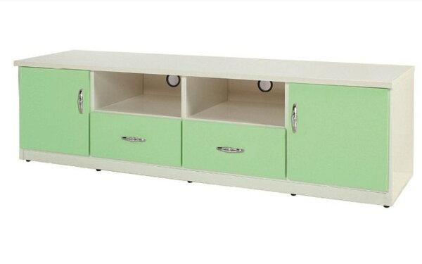【石川家居】844-05(6尺綠白色)電視櫃(CT-202)#訂製預購款式#環保塑鋼P無毒防霉易清潔