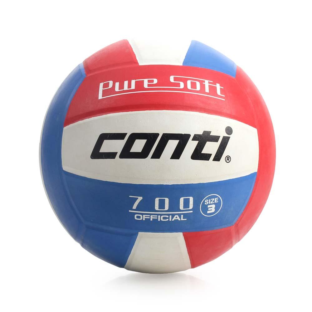[陽光樂活=] CONTI 超軟橡膠排球(3號球) 紅/白/藍 V700-3-RWB【1月會員神券★消費滿1000結帳輸入序號New2018-100↘折100 | 消費滿1288結帳輸入序號Jan-F..