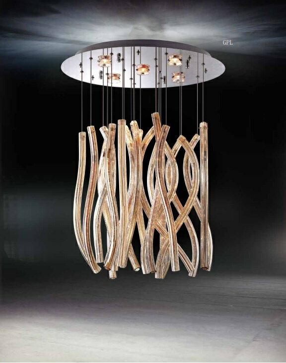 玻璃造型吊燈 GU10 * 5