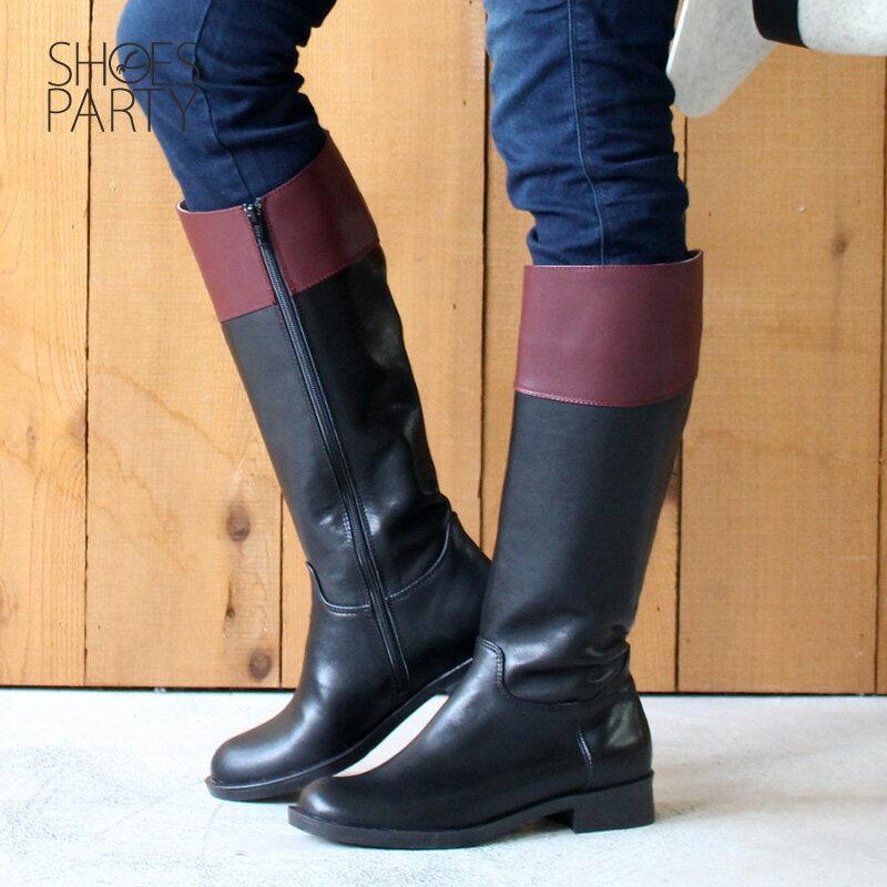 【B2-17340L】修飾小腿肚真皮率性乘馬靴_Shoes Party 4
